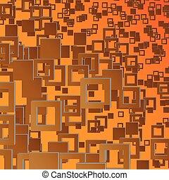 marrom, quadrados, fundo