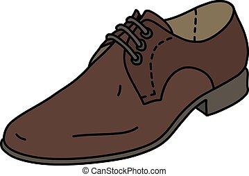 marrom, sapato