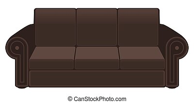 marrom, sofá