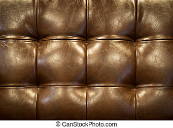 marrom, upholstery, sofá couro, buttoned, vindima, (background)