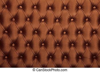 marrom, upholstery, tecido, tufted, capitone, textura