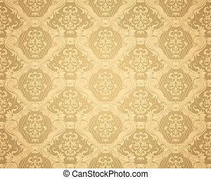 marrom, vetorial, seamless, padrão papel parede