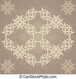 marrom, vitage, florescer, padrão