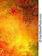 marrone, astratto, giallo, modelli, fondo, textured, floreale, verde, fondale, rosso