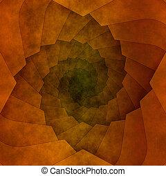 marrone, astratto, spirale, struttura, fondo, o