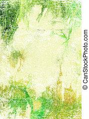 marrone, background:, astratto, giallo, modelli, textured, verde, fondale