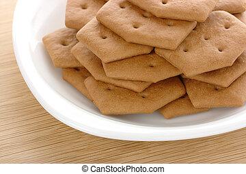 marrone, biscotti, piastra