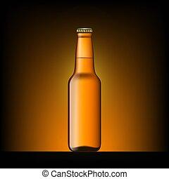 marrone, bottiglia birra