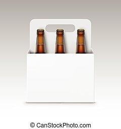 marrone, bottiglie, imballaggio, vetro, birra, bianco