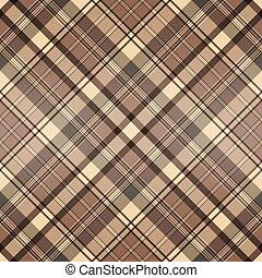 marrone, checkered, modello, seamless, beige, stripes.
