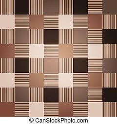 marrone, checkered, seamless, modello