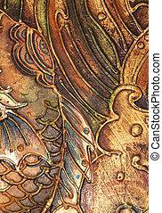 marrone, cornice, textured, immagine