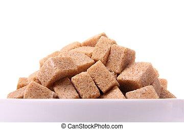 marrone, cubi, riprese ravvicinate, zucchero