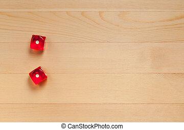 marrone, dado, legno, luce, (1, scartato, fondo., 2, 1), rosso