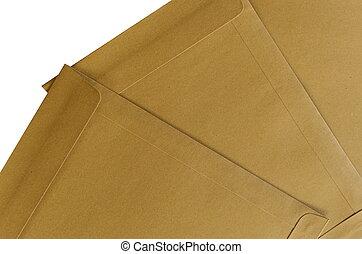 marrone, documento, pacco