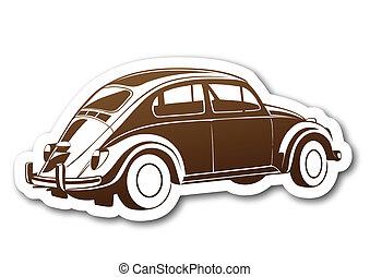 marrone, dolce, carta, vecchio, auto