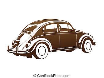 marrone, dolce, vecchio, auto