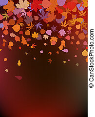 marrone, fondo., eps, autunnale, 8