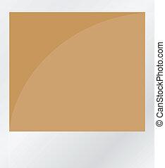 marrone, foto, isolato, bianco