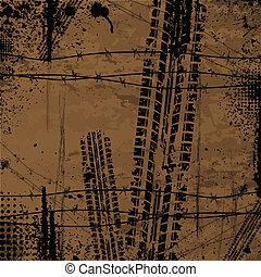 marrone, pista pneumatico, fondo