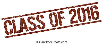 marrone, quadrato, grunge, francobollo, vendemmia, gomma, 2016, classe