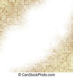 marrone, quadrato, space., fondo, bianco, copia, mosaico