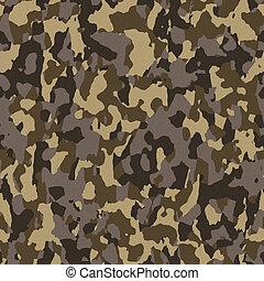 marrone, seamless, esercito, camuffamento