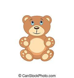 marrone, sfondo bianco, isolato, orso