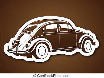 marrone, sopra, dolce, vecchio, auto