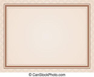 marrone, tonalità, certificato, vuoto
