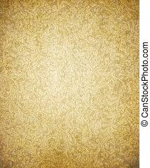 marrone, vecchio, vendemmia, struttura, carta, giallo, pergamena