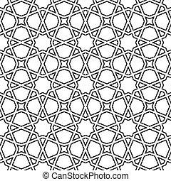 marroquí, mosaico, seamless