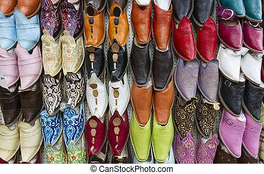 marroquí, pantuflas