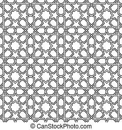 marroquí, seamless, mosaico