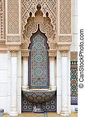 marroquino, arquitetura, em, putrajaya, malásia