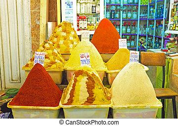 marruecos, mercado, especia