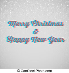 Marry christmas and happy New Year - Vector illustration of...