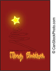 Marry Christmas - Marry christmas greeting card on red...