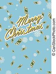 marry christmas. Falling money. - marry christmas. Falling...
