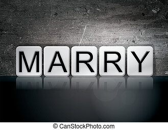 Marry Concept Tiled Word