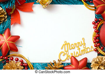 Christmas card congratulation to the empty field