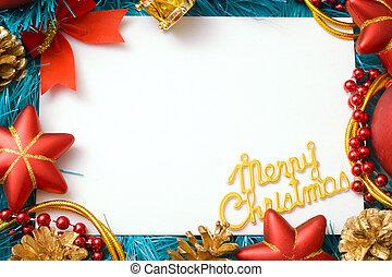 Marry Cristmas - Christmas card congratulation to the empty...