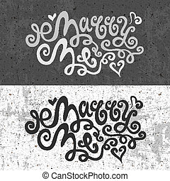 Marry Me hand lettering