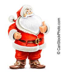 marry Santa Claus show ok - Santa Claus show ok isolated on...