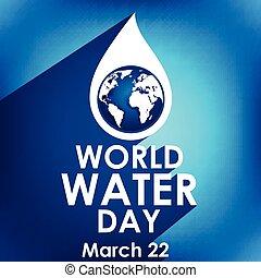 mars, 22, créatif, eau, mondiale, jour