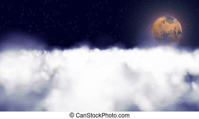 Mars and clouds