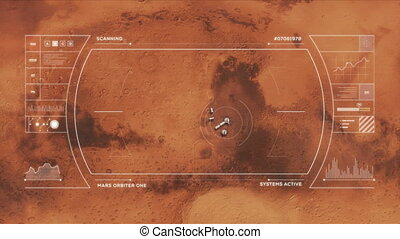 Mars Base from Orbit