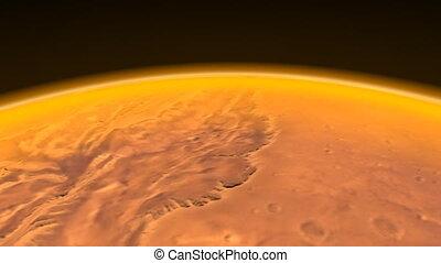 Mars Channels Flight. CG. hd