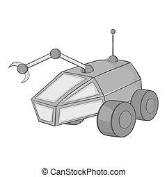 Mars exploration rover icon black monochrome style