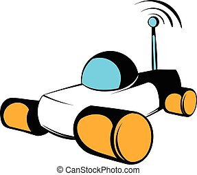 Mars exploration rover icon, icon cartoon